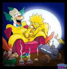 #pic656347: Krusty The Clown – Lisa Simpson – The Simpsons – Toon-Party