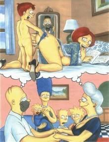#pic655414: Abraham Simpson – Bart Simpson – Homer Simpson – Lisa Simpson – Maggie Simpson – Marge Simpson – Mona Simpson – Pandoras Box – The Simpsons – animated