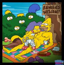 #pic646644: Abraham Simpson – Bart Simpson – Homer Simpson – Lisa Simpson – Marge Simpson – Selma Bouvier – The Simpsons – Toon-Party