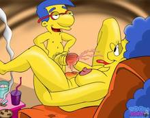 #pic645828: Marge Simpson – Milhouse Van Houten – The Simpsons – Toon-Party