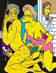 #pic643966: Edna Krabappel – Seymour Skinner – The Simpsons – Victor Hodge