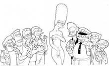 #pic643837: Apu Nahasapeemapetilon – Chief Wiggum – Marge Simpson – Moe Szyslak – Montgomery Burns – Ned Flanders – Rainier Wolfcastle – Snake Jailbird – The Simpsons – Waylon Smithers