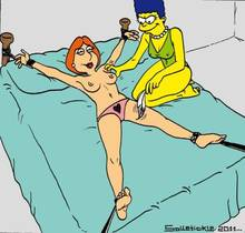 #pic642101: Family Guy – Lois Griffin – Marge Simpson – The Simpsons – crossover