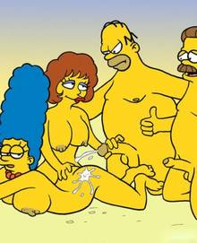 #pic638707: Homer Simpson – Marge Simpson – Maude Flanders – Ned Flanders – The Simpsons
