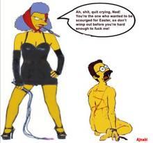 #pic634894: Ned Flanders – Selma Bouvier – The Simpsons – ajnabi