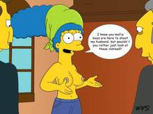 #pic630462: Fat Tony – Marge Simpson – The Simpsons – WVS