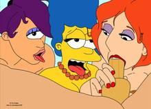 #pic1248853: Dutchman12345 – Family Guy – Futurama – Kongen – Lois Griffin – Marge Simpson – The Simpsons – Turanga Leela – crossover