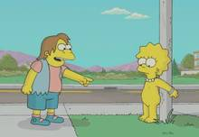 #pic519392: Lisa Simpson – Mole – Nelson Muntz – The Simpsons