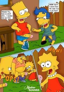 #pic511076: Barney Gumble – Bart Simpson – Lisa Simpson – Milhouse Van Houten – Modern Toons – The Simpsons