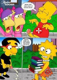 #pic509066: Bart Simpson – Lisa Simpson – Milhouse Van Houten – Modern Toons – Sherri – Terri – The Simpsons