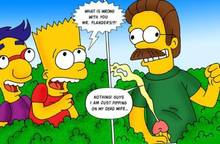 #pic508570: Bart Simpson – Milhouse Van Houten – Modern Toons – Ned Flanders – The Simpsons