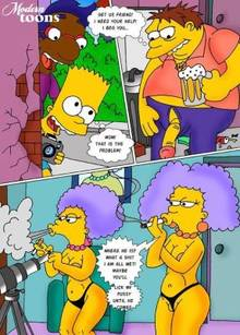 #pic506625: Barney Gumble – Bart Simpson – Milhouse Van Houten – Modern Toons – Outhouse – Patty Bouvier – Selma Bouvier – The Simpsons