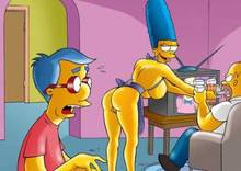 #pic503803: Homer Simpson – Marge Simpson – Milhouse Van Houten – The Simpsons