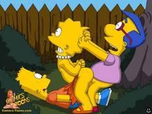 #pic116211: Bart Simpson – Lisa Simpson – Milhouse Van Houten – The Simpsons