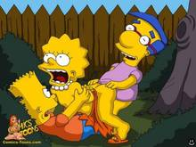 #pic116210: Bart Simpson – Lisa Simpson – Milhouse Van Houten – The Simpsons