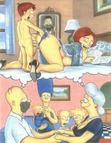 #pic116204: Abraham Simpson – Bart Simpson – Homer Simpson – Lisa Simpson – Maggie Simpson – Marge Simpson – Mona Simpson – Pandoras Box – The Simpsons