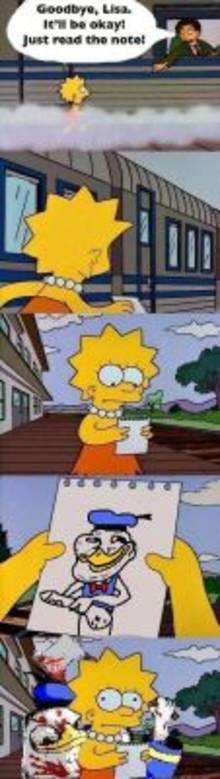 #pic795310: Dolan Dooc – Donald Duck – Lisa Simpson – Mr. Bergstrom – The Simpsons – comic – meme
