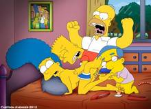 #pic793289: Bart Simpson – Homer Simpson – Marge Simpson – Milhouse Van Houten – The Simpsons – cartoon avenger