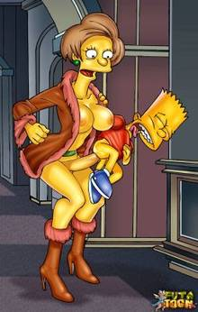 #pic680379: Bart Simpson – Edna Krabappel – The Simpsons – futa-toon