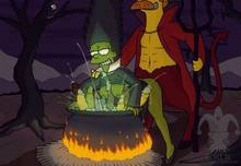 #pic1235378: Halloween – Marge Simpson – Ned Flanders – Satan – The Simpsons – WITCH – blargsnarf – cosplay