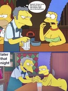 #pic678339: Homer Simpson – Marge Simpson – Moe Szyslak – The Simpsons