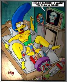 #pic267240: Billy – Marge Simpson – Saw – The Simpsons – necron99
