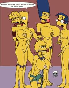 #pic241384: Bart Simpson – Lisa Simpson – Maggie Simpson – Marge Simpson – Milhouse Van Houten – The Fear – The Simpsons