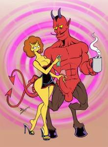 #pic1230338: Maude Flanders – Satan – The Simpsons – necronocimon