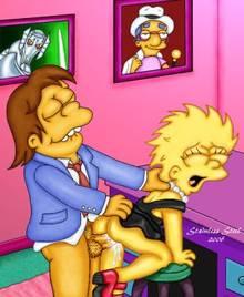 #pic124345: Lisa Simpson – Nelson Muntz – Stainless steel – The Simpsons