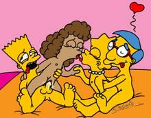 #pic142820: Bart Simpson – Escoria – Janey Powell – Lisa Simpson – Milhouse Van Houten – The Simpsons