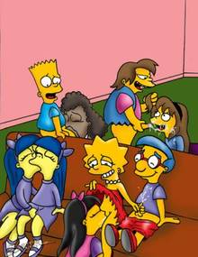 #pic142821: Allison Taylor – Bart Simpson – Escoria – Janey Powell – Jessica Lovejoy – Lisa Simpson – Milhouse Van Houten – Nelson Muntz – Sherri – Terri – The Simpsons
