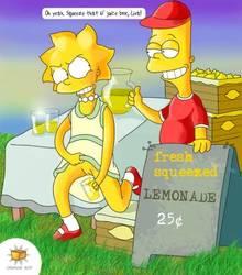 #pic142672: Bart Simpson – Lisa Simpson – Orange Box – The Simpsons