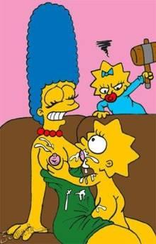 #pic652919: Escoria – Lisa Simpson – Maggie Simpson – Marge Simpson – The Simpsons