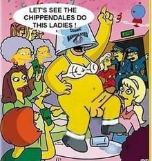 #pic222269: Chief Wiggum – Cosmic – Eddie – Homer Simpson – Patty Bouvier – Selma Bouvier – The Simpsons