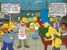 #pic222173: Abraham Simpson – Barney Gumble – Carl Carlson – Cosmic – Homer Simpson – Marge Simpson – Moe Szyslak – The Simpsons