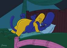 #pic196012: Homer Simpson – Jimmy – Marge Simpson – The Simpsons – cat Marge