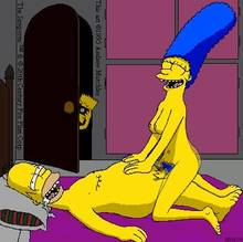#pic188734: Bart Simpson – Homer Simpson – Kinky Turtle – Marge Simpson – The Simpsons – animated