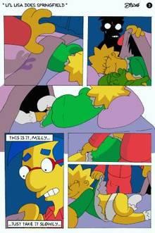 #pic174512: Lisa Simpson – Milhouse Van Houten – The Simpsons – comic – disnae