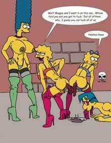 #pic173398: Lisa Simpson – Maggie Simpson – Marge Simpson – Milhouse Van Houten – The Fear – The Simpsons
