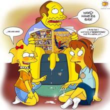 #pic10889: Allison Taylor – Comic Book Guy – Jeff Albertson – Lisa Simpson – Orange Box – The Simpsons