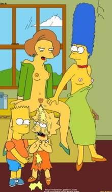 #pic10878: Bart Simpson – Edna Krabappel – Lisa Simpson – Marge Simpson – The Simpsons