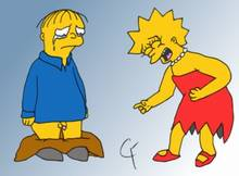 #pic61408: Lisa Simpson – Ralph Wiggum – The Simpsons – cfarley