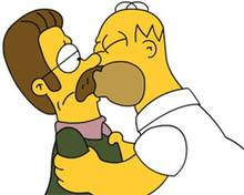 #pic47530: Homer Simpson – Ned Flanders – The Simpsons