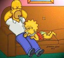 #pic32172: Homer Simpson – Lisa Simpson – Stainless steel – The Simpsons
